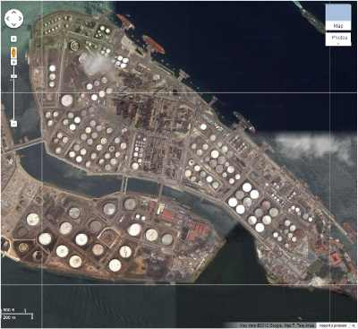Industrial Facility seen from Google Satellite