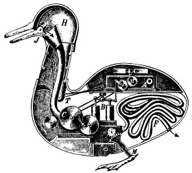 In the 18th century people thought animals could be described as a mechanical apparatus