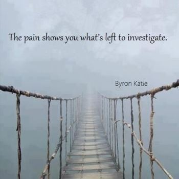 the pain shows you what's left to investigate