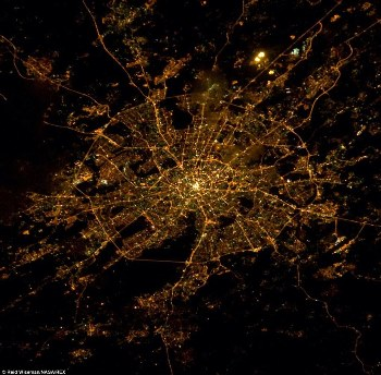 city from space
